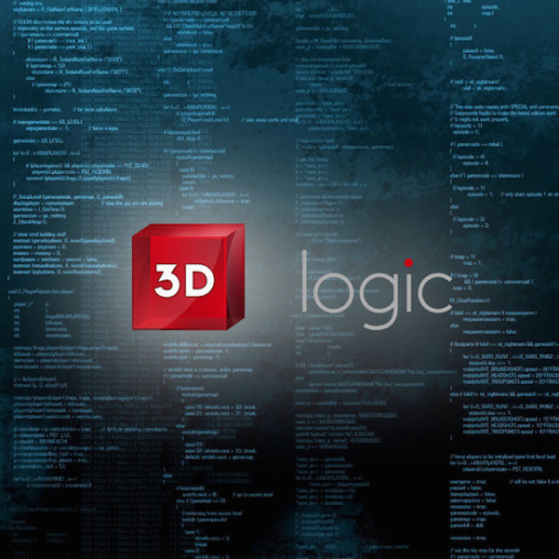 Logo design 3D logic