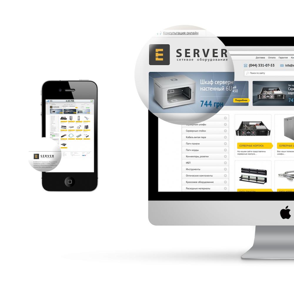 Створення логотипу каталогу і банера E-сервер