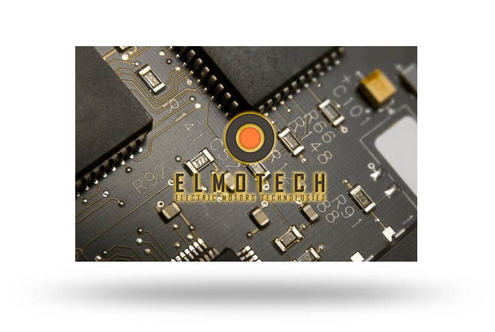 Розробка логотипу бланка візитки ELMOTECH