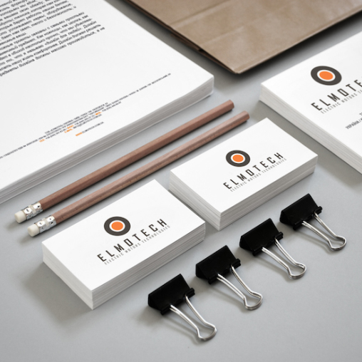 Logo design blank cards ELMOTECH