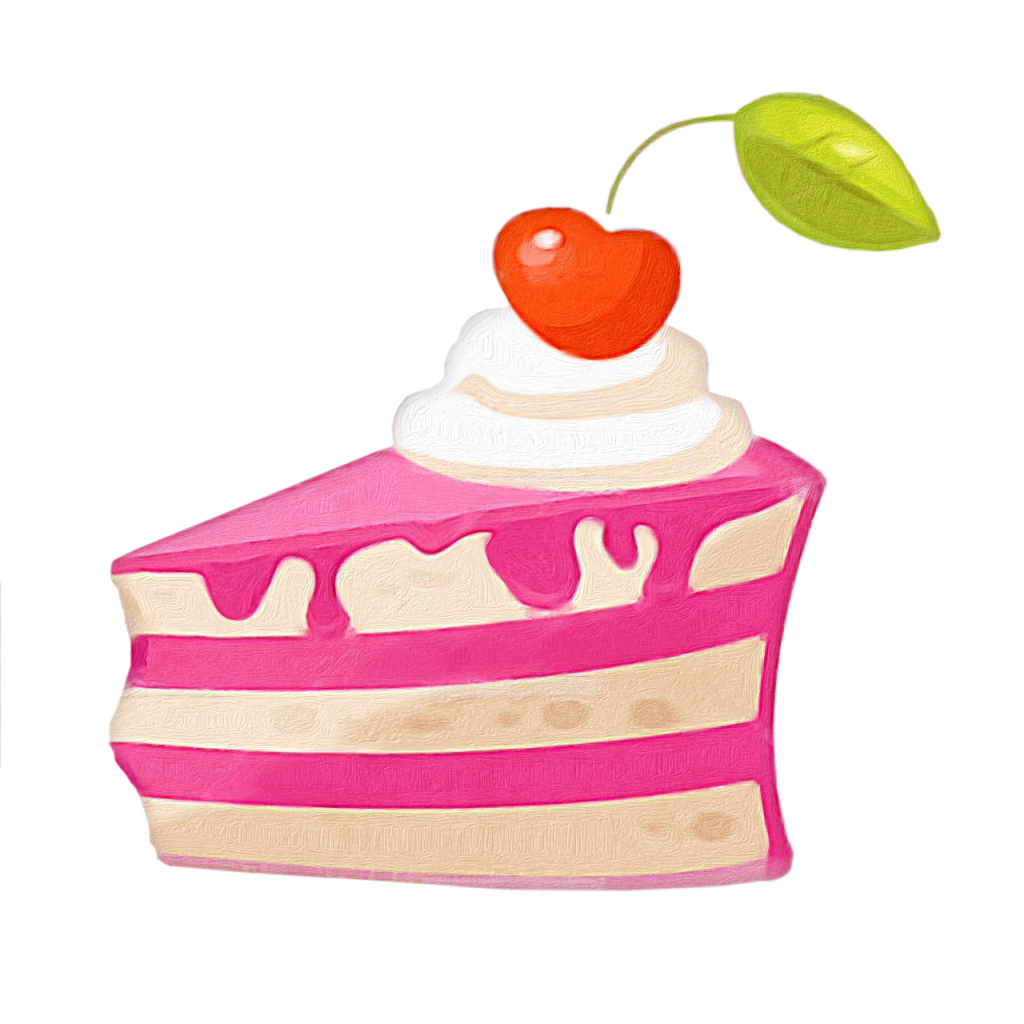 Piece of cake, vector illustration